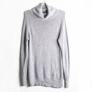 H by Halston Gray Turtleneck Tunic Sweater  M